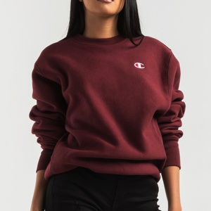 CHAMPION WOMEN'S REVERSE WEAVE SMALL C CREW SWEATS